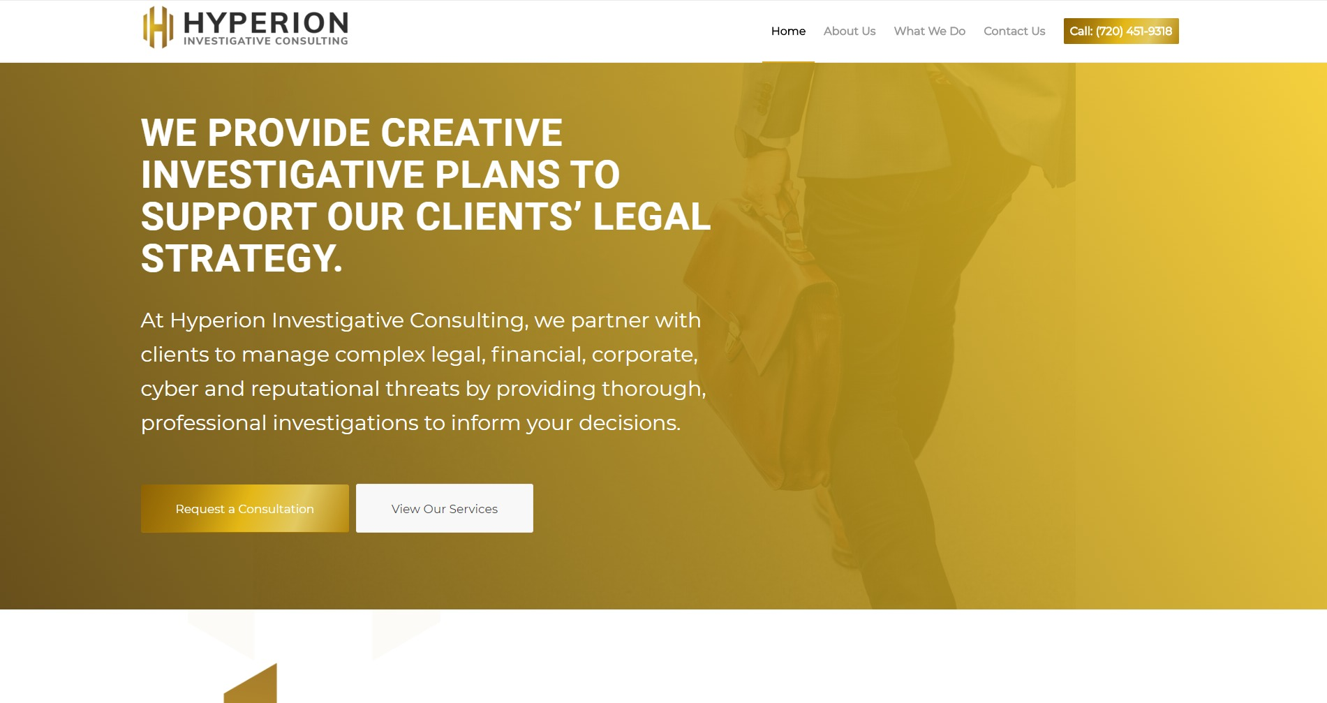 Hyperion Investigative Consulting Website Design by Investigator Marketing