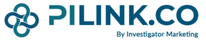 PI Link Logo in Blue and Green